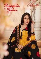 Akash Creation Patiyala Babes Vol 8 Cotton Printed Dress Material Catalog
