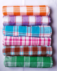 Check Cotton Kitchen Napkin Towel 14 X 24 Inch (Pack Of 6), 200g, Size: 14*24