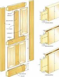 Rectangular White Neem Wood Door Frame