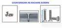 COUNTERSUNK HEAD MACHINE SCREWS