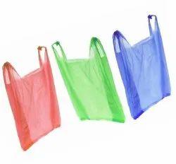 U Shape Handle Plain LDPE China Carry Bag, For Grocerry, 50 Micron