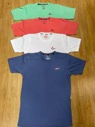 Round Half Sleeve Cotton Plain T Shirt, Size: M TO XXL