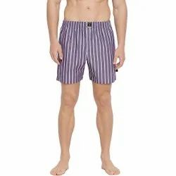 Classy Boxers Purple with White Stripes Short