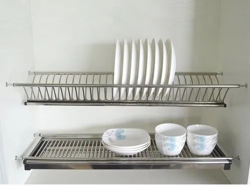 Cabinet Hardware 2 Tiers Kitchen Stainless Steel Dish Rack Kitchen Accessories 800 Cabinets At Rs 3460 Piece Kitchen Cabinet Hardware Id 23484627148