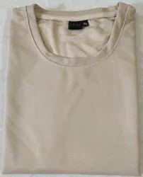 Polyester Matty Plain Half Sleeve T Shirt