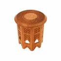 Brown Round Carved Table, For Home
