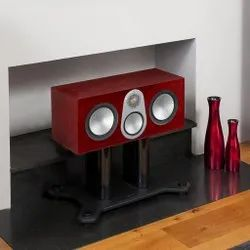 Black Wooden Monitor Audio Silver C350 Centre Channel Speakers, 200W