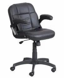Mid Back Leatherette Office Chair Black (VJ-2019)