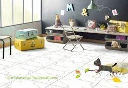 White Ceramic Porcelain Tile Flooring, Size: 60 * 60 In Cm, Thickness: 5-10 Mm