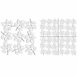 Majestic Ceramic White Leaves Polished Vitrified Tiles, Thickness: 9 mm, Size: 600 x 600 mm