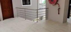 Stainless Steel Matte Modern Stair Railings., For Hotel