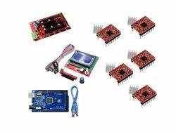 3D Printer Electronics Kit RAMPS 1.4+Mega 2560+12864 Smart LCD Controller+A4988 Drivers