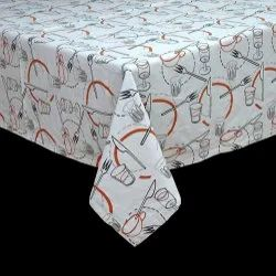 100 % Cotton Printed Table Cloth, Size: Standard