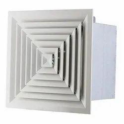 Powder Coated Aluminium HVAC Diffuser, For Industrial