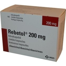200 Mg Rebetol, 12 Capsules In One Strip