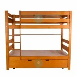 Mellbi Pinewood Double Bunk Bed, For Home, Size: 72 L X 42 W X 60 H
