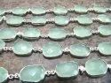 Reen Color Chalcedony Free Shape Briolette 10 To 15mm