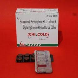 Paracetamol Phenylephrine HCL Caffeine And Diphenhydramine Hydrochloride Tablets