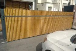 Automatic Wooden sliding Gate