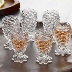 Transparent Glassware Crystal Clear Pineapple Shaped Juice Glass 150 Ml, For Home Hotel Restaurant Bar