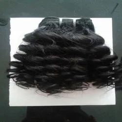 Curly Black Indian Human Hair For Women And Girl Cheveux Meche