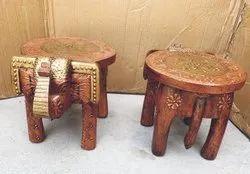 Wooden Handicraft Stool