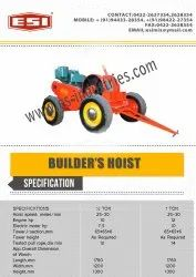 Builders Hoist Winch