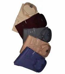Plain Collar Neck Men Cotton Shirts, Machine and Hand Wash, Size: Small