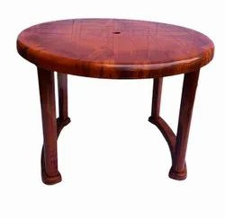 SHUBH ROUND PLASTIC DINING TABLE