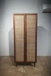 Upper Rack Natural Wood Wooden Cabinet, Teak Wood, Number Of Doors: 2