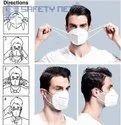 Safetynet N95 Mask,Breathable Masks Reusable & Washable N95 Mask,Certified  White Color