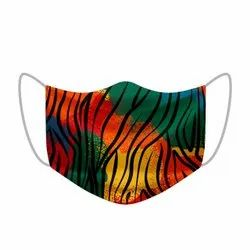 Multi- Layer Printed Masks Made With Cotton Fabric & Melt Blown Bacterial Filter