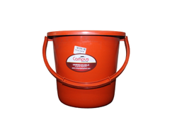 Orange & Blue HDPE 10 Ltr Bucket, For Household, Unbreakable