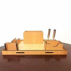 Ecobill Brown Wooden Desk Organizer, For Office, Size: 250*150*105mm