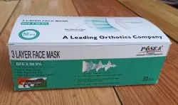 POSE Disposable Non Woven Surgical Face Mask, Number of Layers: 3