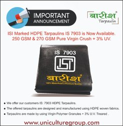 Isi Marked Hdpe Tarpaulins Is 7903