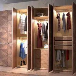 Plywood Modular Designer Wardrobe