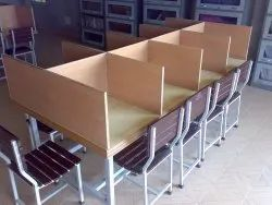Library Table With Partition With 8 Chairs