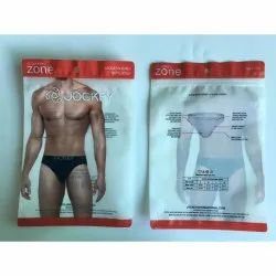 Plastic Undergarment Packaging Pouch, Capacity: 200 G