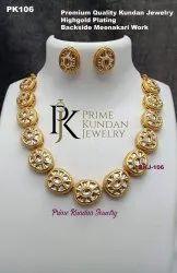 Brass Artificial Antique Necklace Set