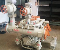 100 HP 45 Ton Kirloskar Ammonia Compressor, Discharge Pressure: 21 Kg