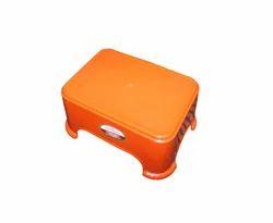 Campus Orange Plastic Bath Stool, 480gm