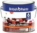 Water Based British Low Sheen Clean Protect Paint, Packaging Type: Bucket, Packaging Size: 6 Litre