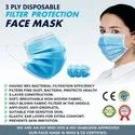 3 Ply Disposable Filter Protection  Face Mask