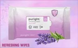 Wet Face Wipes 25 Pc Pulls With Lavender Fragrance