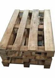 Rectangular Soft Wood Two Ways Wooden Pallet