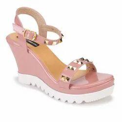 Wedges Pink Stud High Heels
