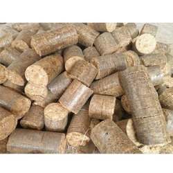 Solid White Coal Biomass Briquette, For Fuel For Boiler, Packaging Size: Loose In Tons
