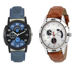 Round Analog Mens Fashion Combo Watches