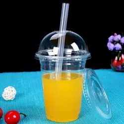 Transparent Disposable Pet Glass with Dome Lid